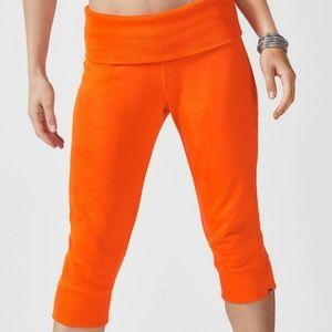 Fabletics Hamilton Foldover Sweatpants Orange NWT